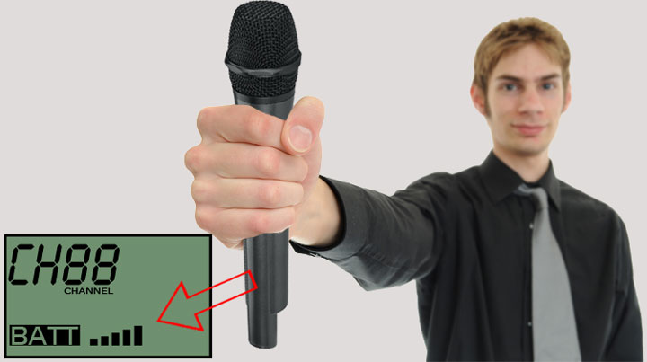 bezdrôtový mikrofón